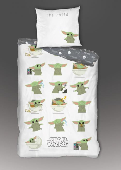 STAR WARS - Parure de lit 140x200cm - Baby Yoda '100% Coton'