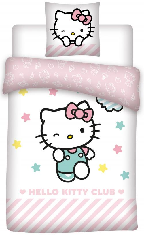 HELLO KITTY - Club - Parure de lit 140x200cm - '100% microfibre'