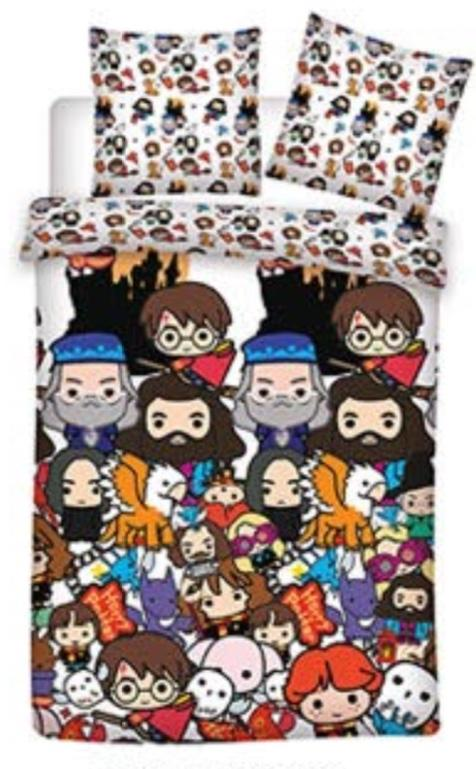 HARRY POTTER - Parure de lit 140X200 - Chibi '100% Cotton'