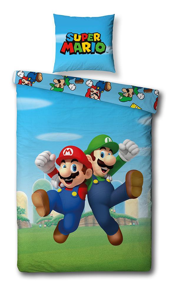 NINTENDO - Parure de lit 140X200 - Mario Bross '100% Cotton'_1