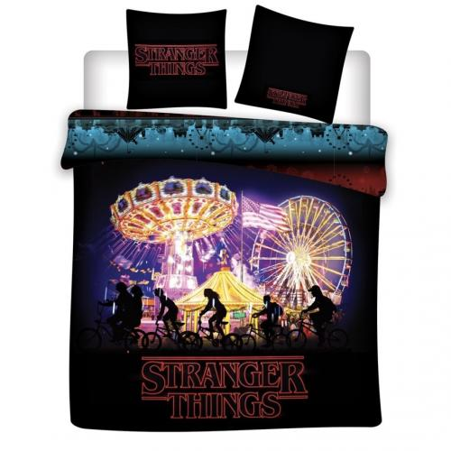 STRANGER THINGS - Parure de lit 140x200cm - Night '100% Coton'