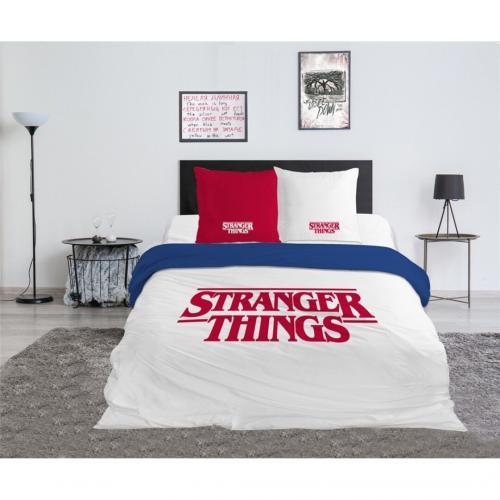 STRANGER THINGS - Parure de lit 240x220cm - Logo '100% Coton'