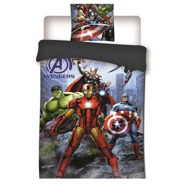 MARVEL - Parure de lit 140X200 - Avengers Vers 2 '100% Poly'
