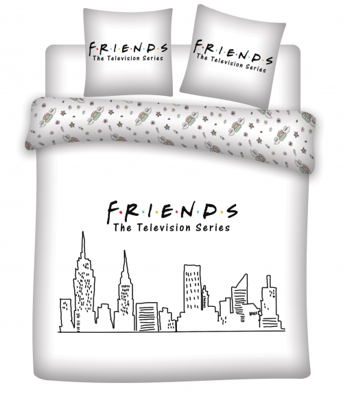 FRIENDS - Parure de lit 200X200 - Friends '100% Coton'
