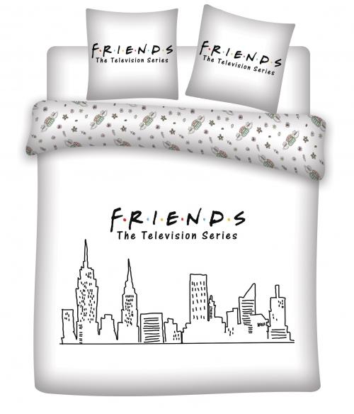 FRIENDS - Parure de lit 240X220 - Friends '100% microfibre'