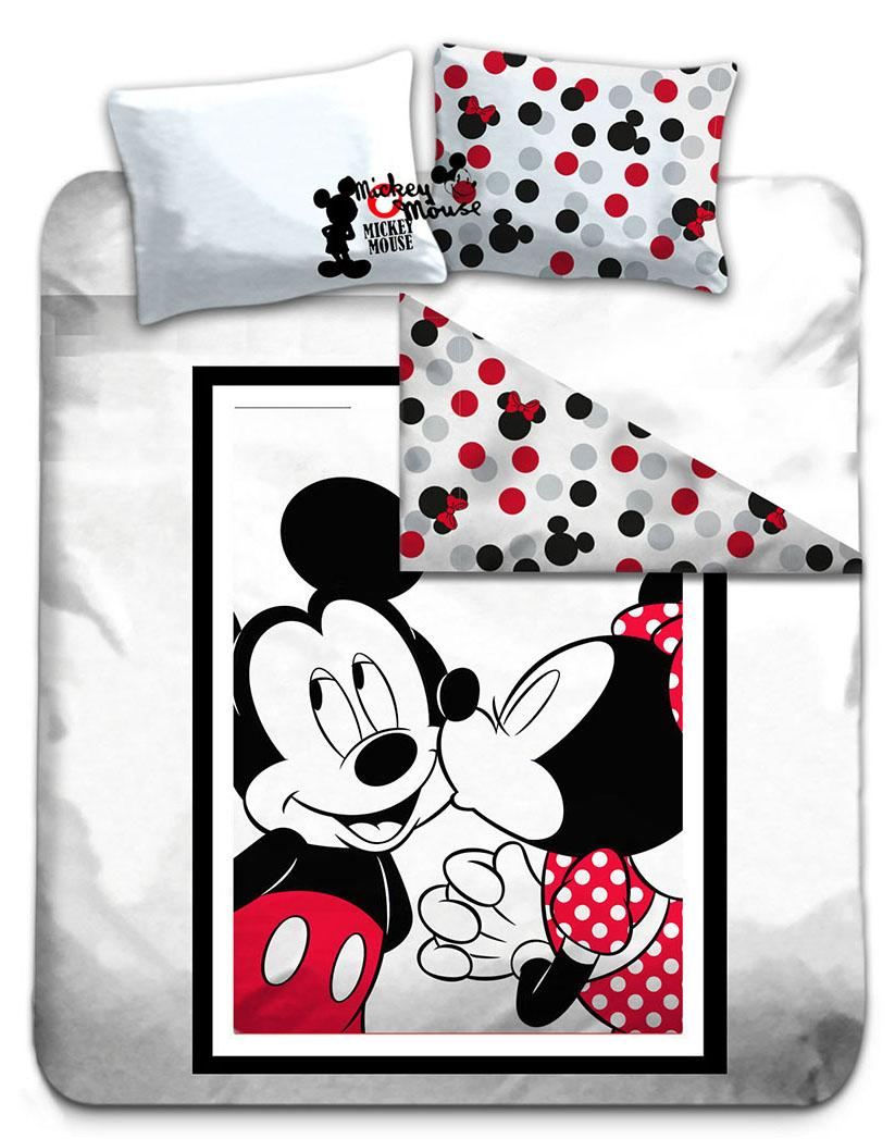 DISNEY - Parure de lit 240X220 - Mickey & Minnie '100% Cotton'_1