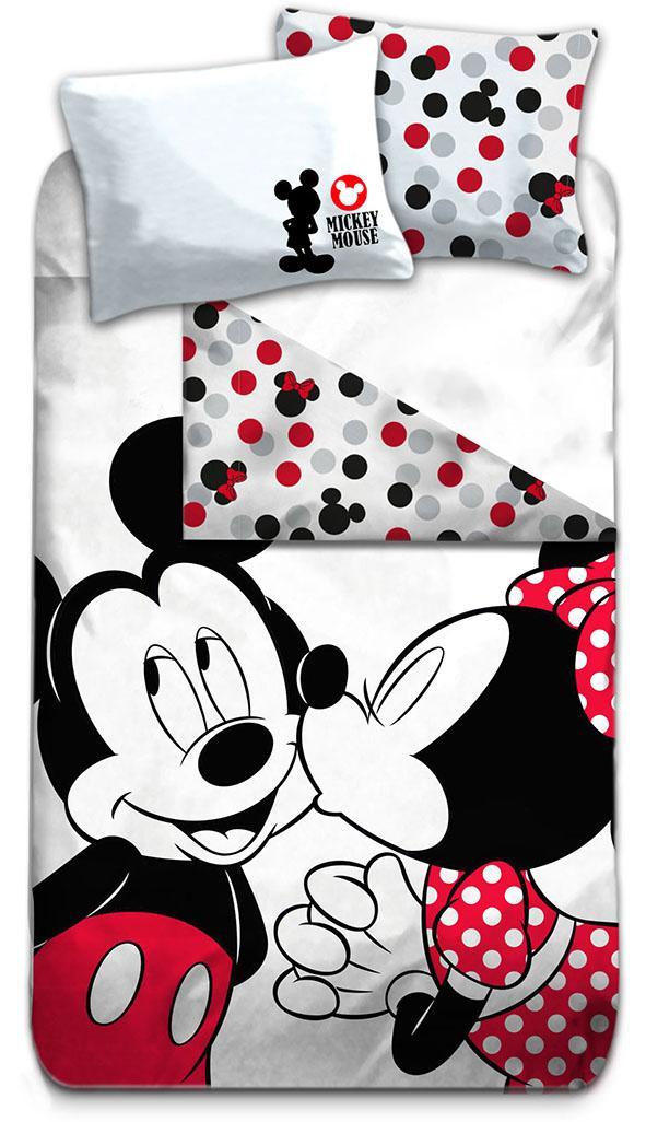 DISNEY - Parure de lit 140X200 - Mickey & Minnie '100% Cotton'_2