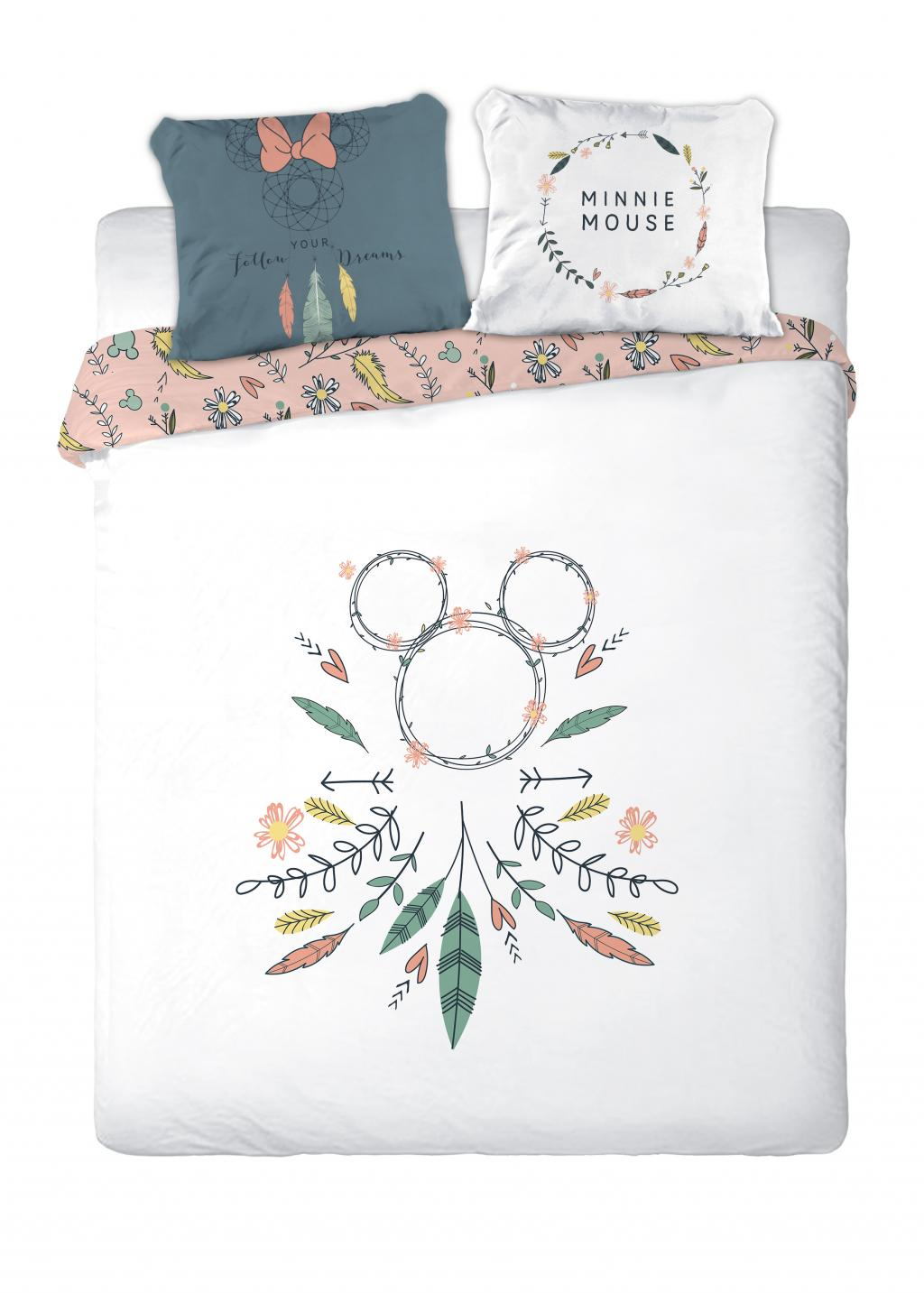DISNEY - Parure de lit 200X200 - Mickey Art '100% Cotton'