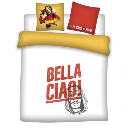 CASA DE PAPEL - Parure de lit 240X220 - Bella Ciao '100% microfibre'