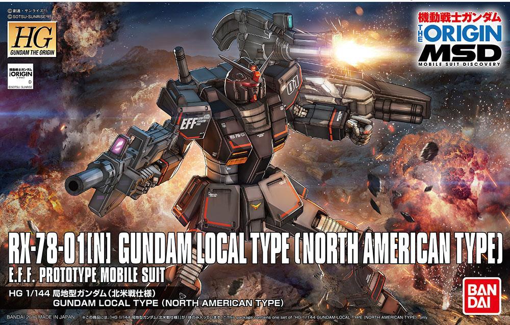 GUNDAM The Origin - Model Kit - HG 1/144 - Local Type North American