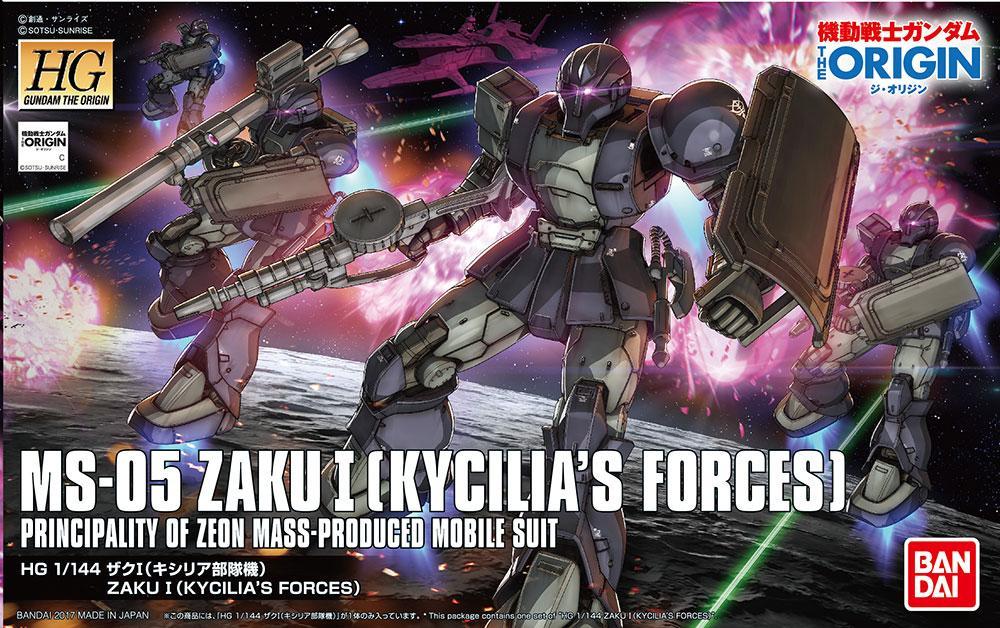 GUNDAM The Origin - Model Kit - HG 1/144 - Zaku I 'Kycilia's Force'