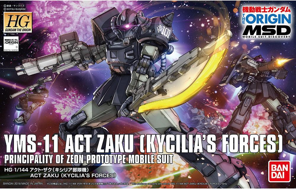 GUNDAM The Origin - Model Kit - HG 1/144 - Act Zaky 'Kycilia's Force'