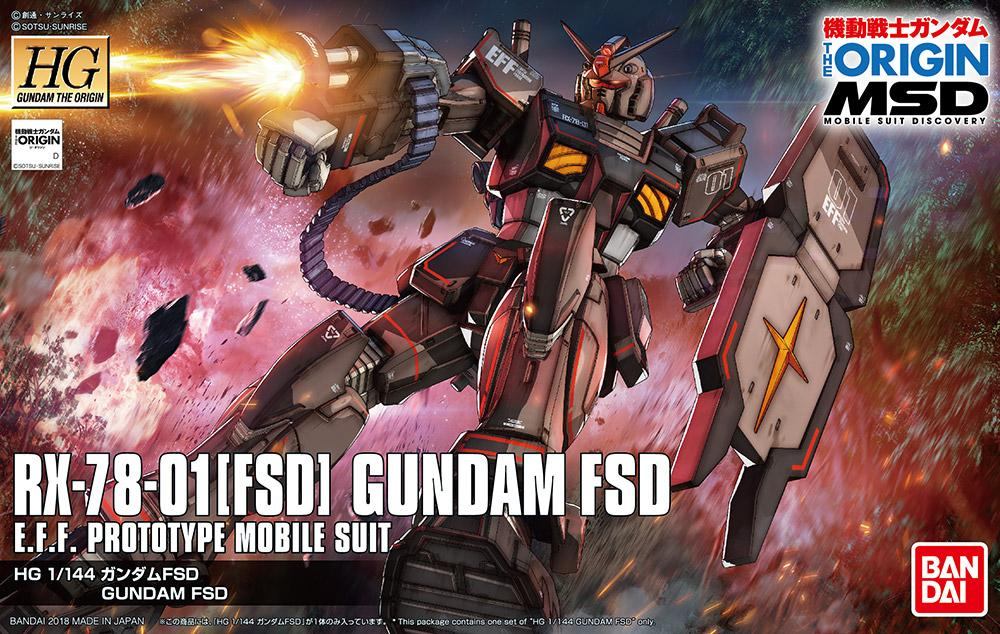 GUNDAM The Origin - Model Kit - HG 1/144 - Gundam FSD