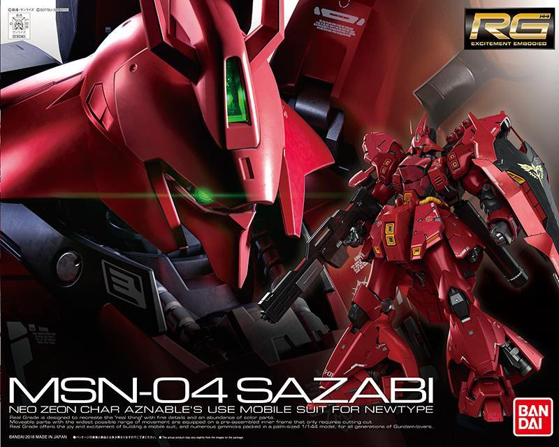 GUNDAM - Model Kit - Real Grade - MSN-04 Sazabi
