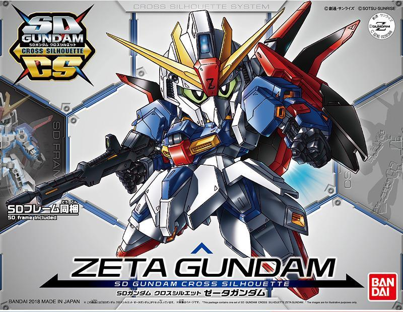 GUNDAM - Model Kit - SD Cross Silhouette Zeta Gundam