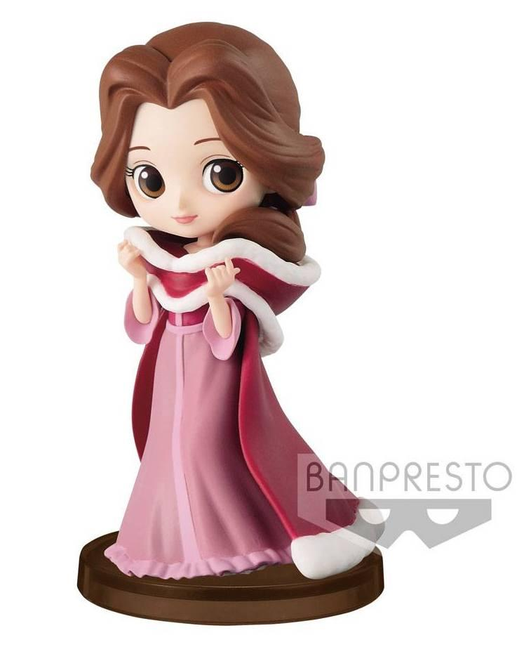 DISNEY - Q posket Mini Girls Festival - Belle Winter Costume - 7cm