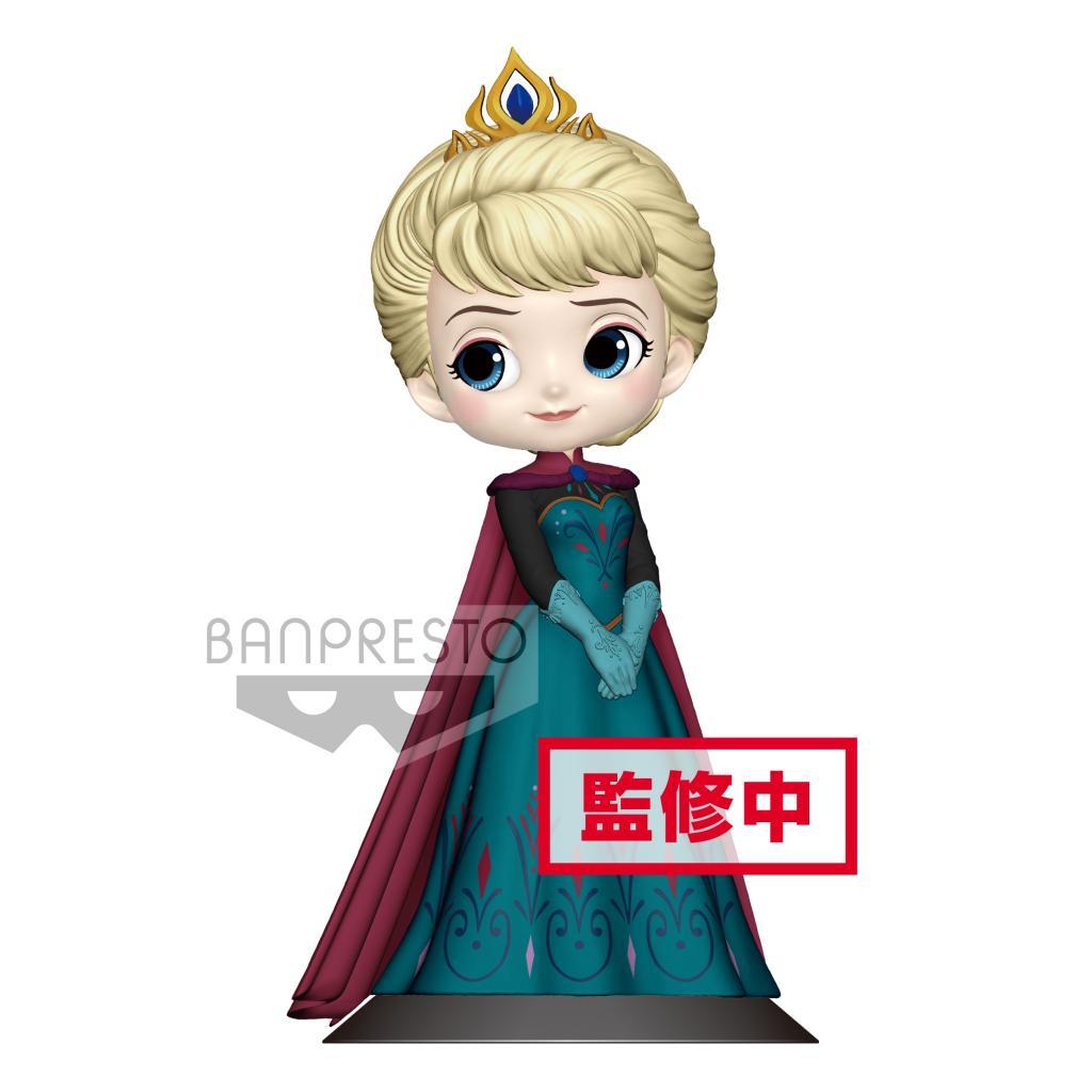 DISNEY - Q Posket Elsa Coronation Normal Color Version - 14cm_1