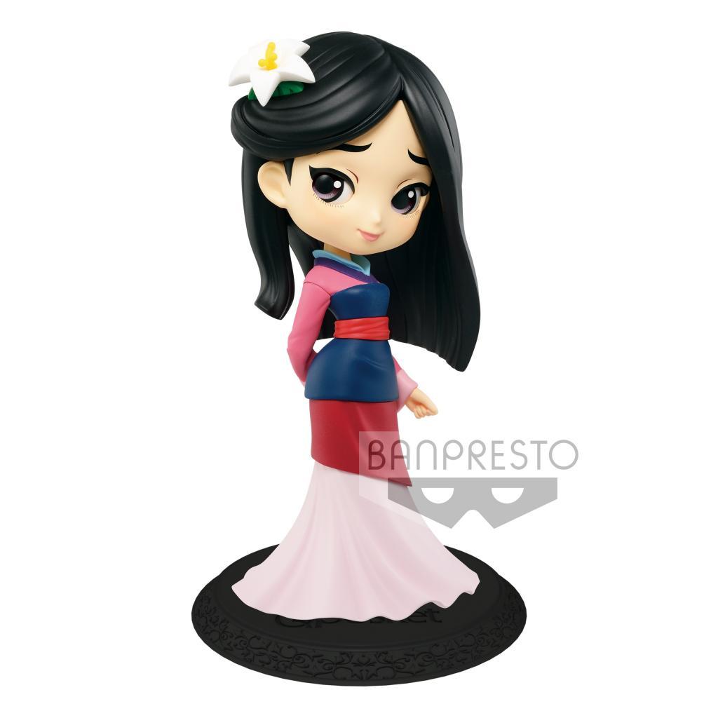 DISNEY - Q Posket Mulan Normal Color Version - 14cm