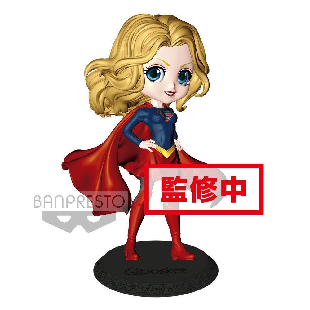 DC COMICS - Q Posket SuperGirl Normal Color Version - 14cm