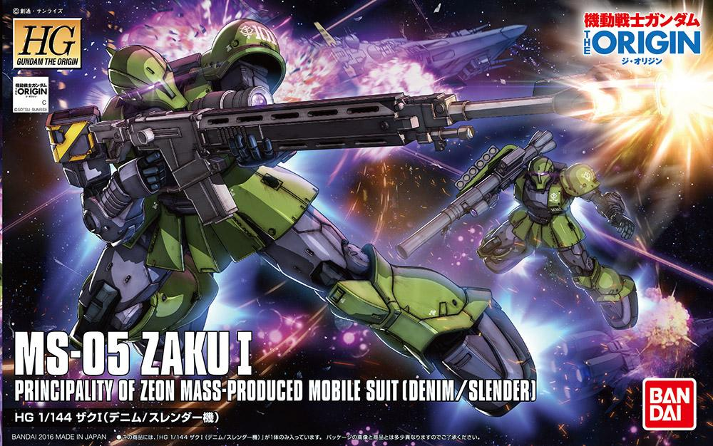 GUNDAM The Origin - Model Kit - HG 1/144 - Zaku I 'Denim/Slender'