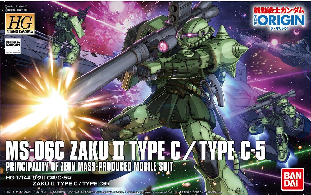 GUNDAM The Origin - Model Kit - HG 1/144 - Zaku II Type C/C-5