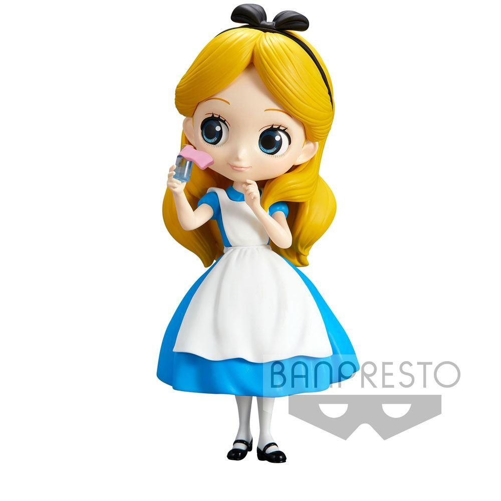 DISNEY - Q Posket Alice Thinking Time - 14cm