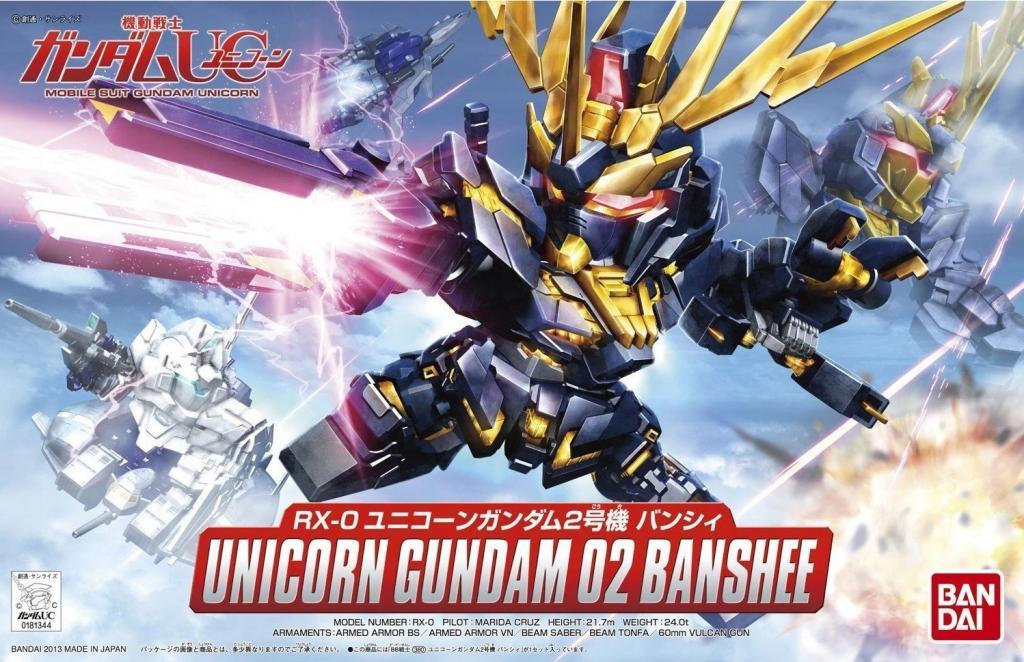 GUNDAM - Model Kit - BB Gundam Unicorn 2 Banshee 380