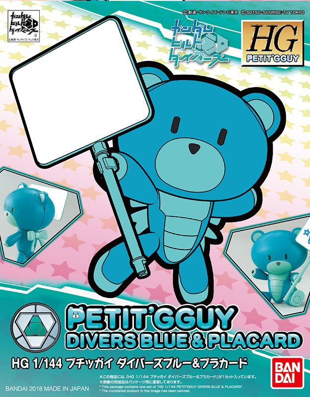 PETITGGUY - Model Kit - Divers Blue & Placard 1/144