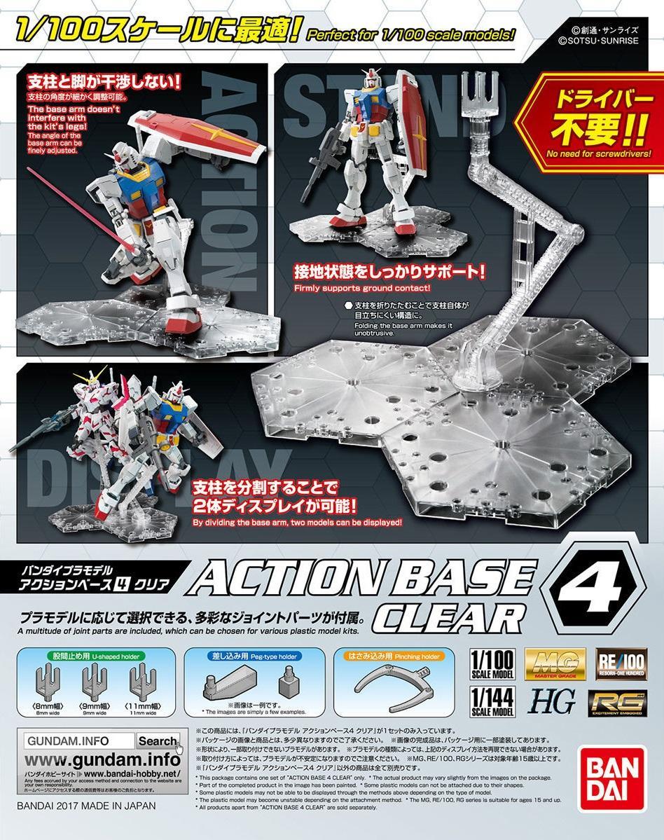 GUNDAM - Model Kit - ACTION BASE 4 CLEAR