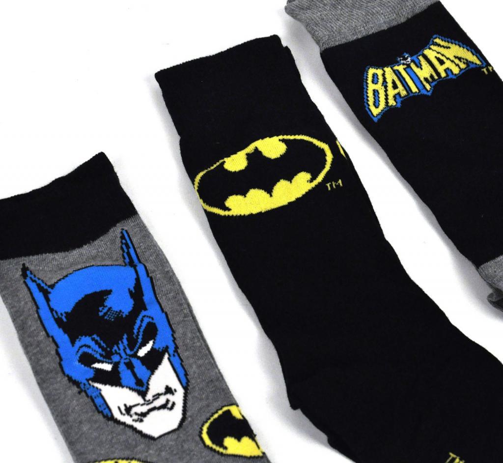 BATMAN - TIN BOX - Pack 3 Chaussettes (41-46)