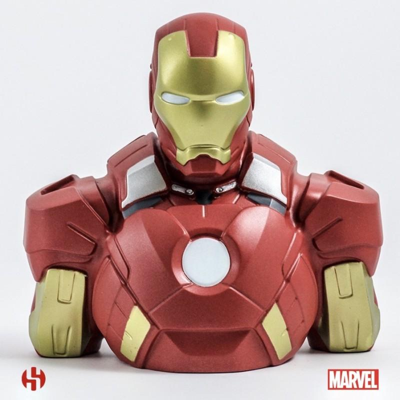 MARVEL - Tirelire Boite Blister - Iron Man Bust 20 cm