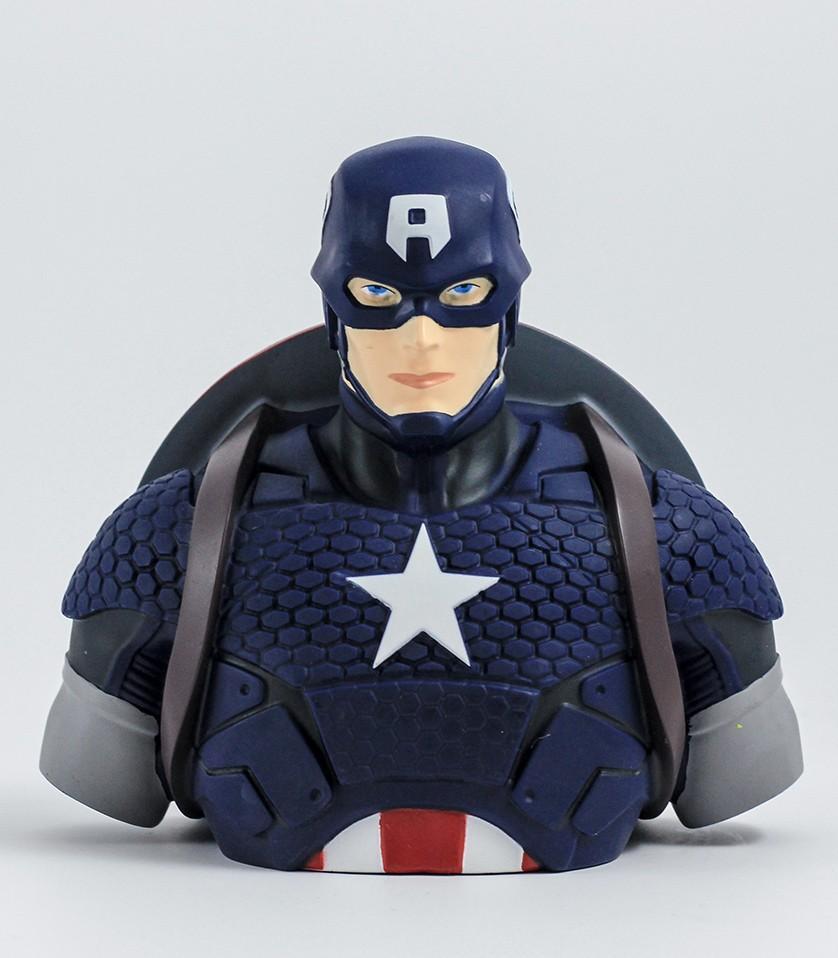 MARVEL - Tirelire Boite Blister - Captain America Bust 20 cm