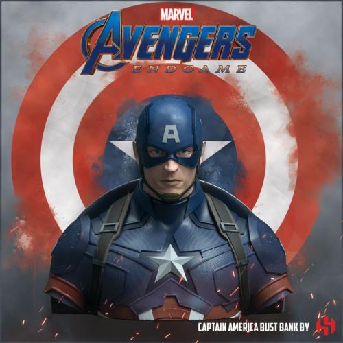 MARVEL - Captain America Avengers Endgame - Tirelire buste 20cm