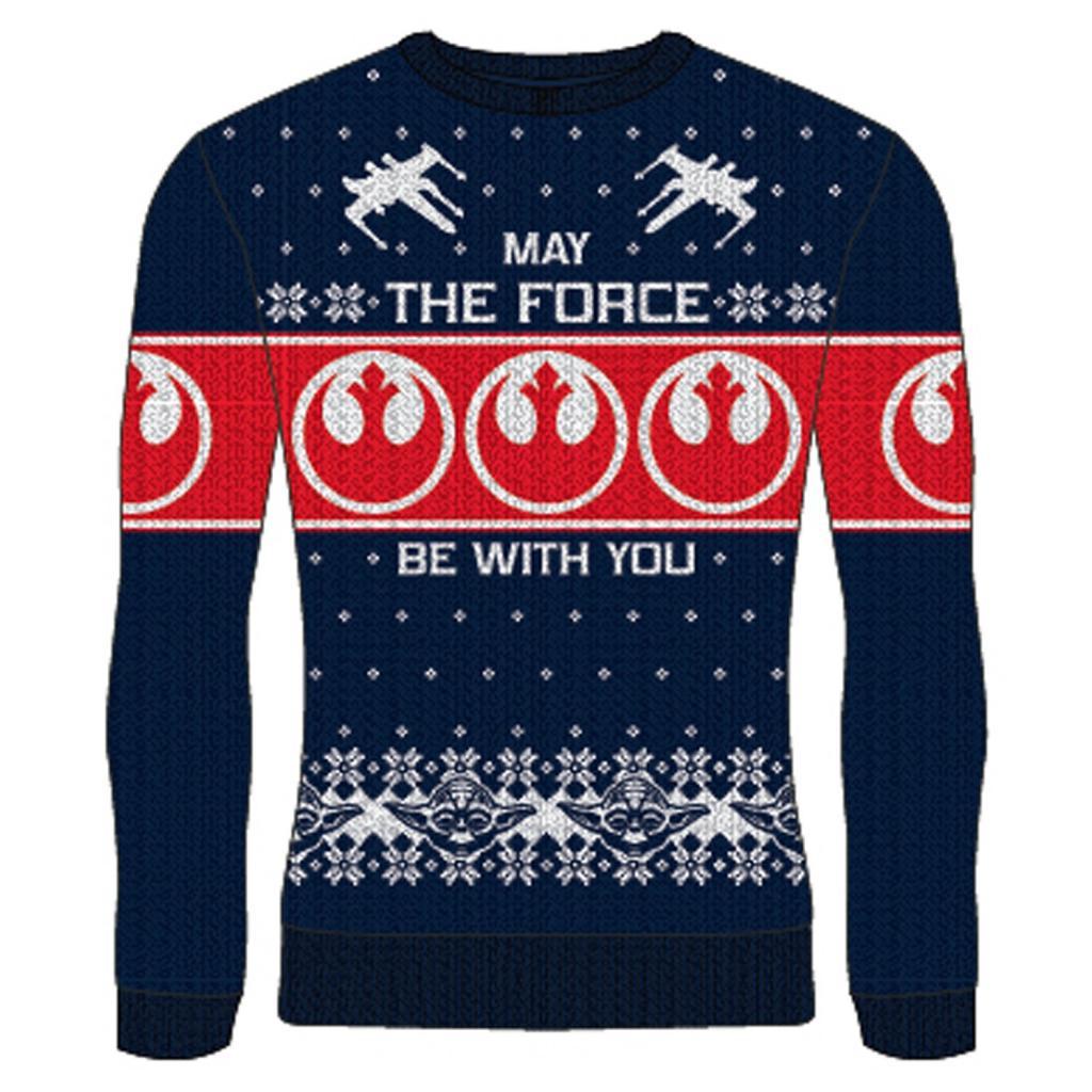 STAR WARS - May the Force (Rebel Logo) - Christmas Jumper (S)