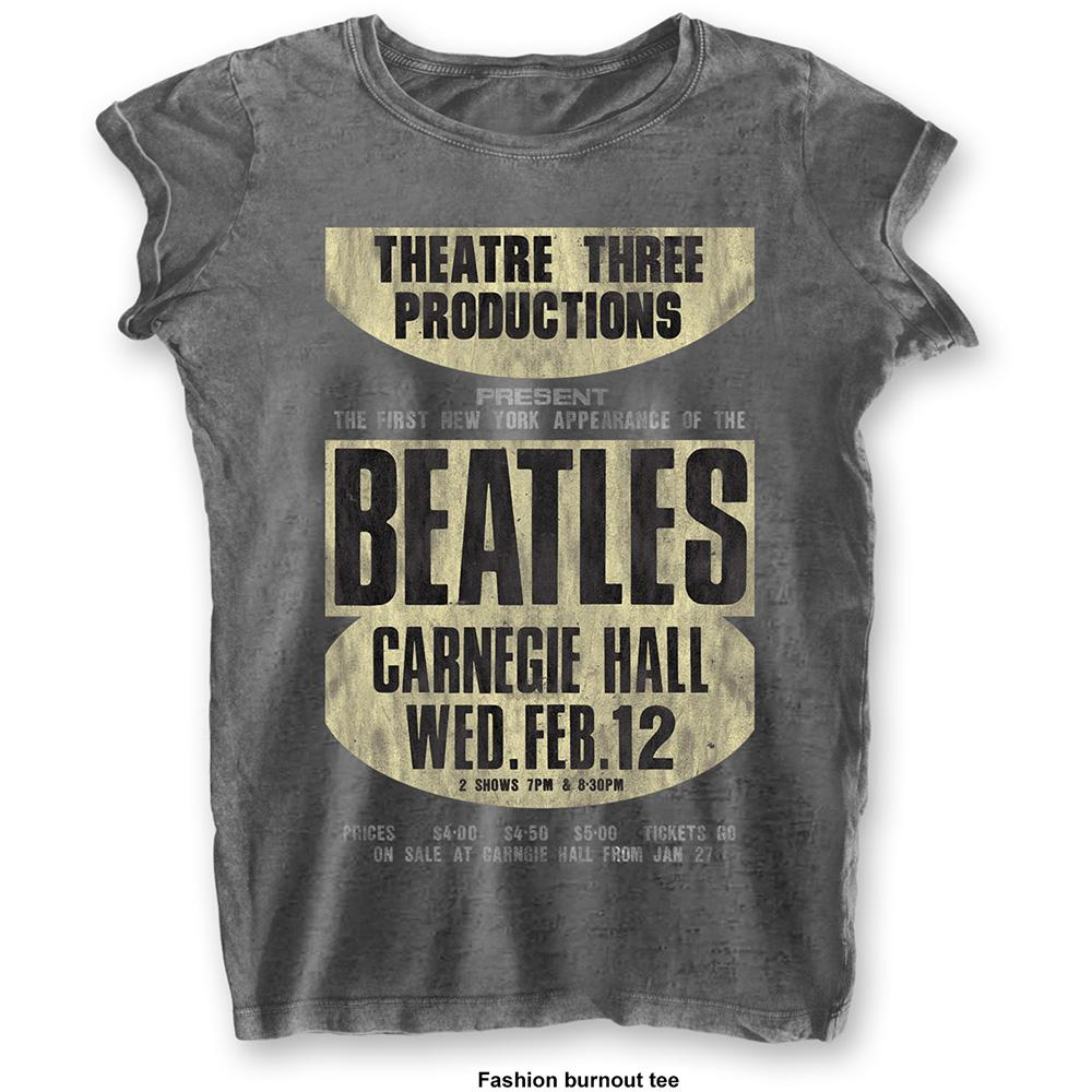 THE BEATLES - T-Shirt BurnOut Col - Carnegie Hall - Woman (L)