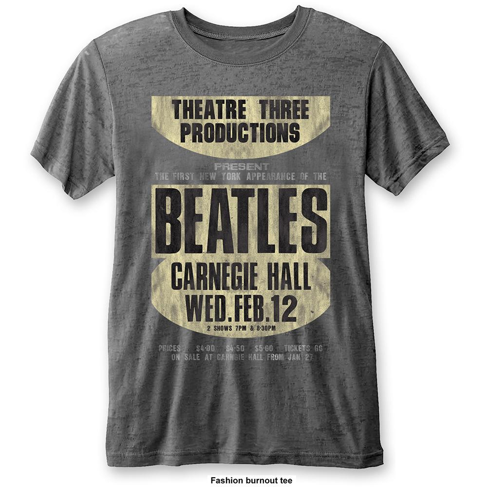 THE BEATLES - T-Shirt BurnOut Col - Carnegie Hall - Men (L)
