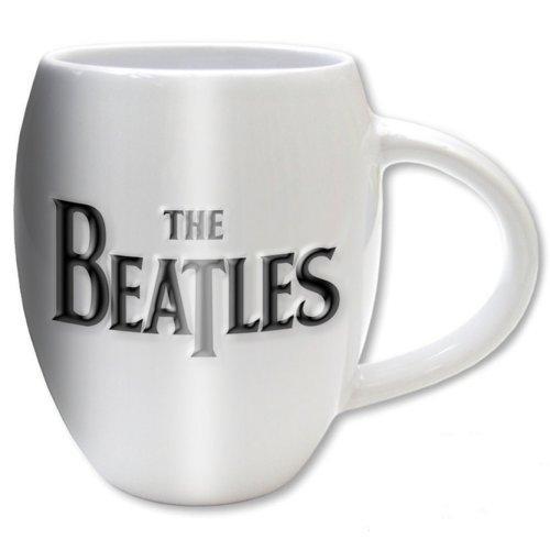 THE BEATLES - Oval Embossed Mug 450 ml - Drop T Logo & Apple
