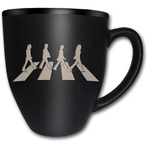 THE BEATLES - Matte Black Mug 450 ml - Abbey Road