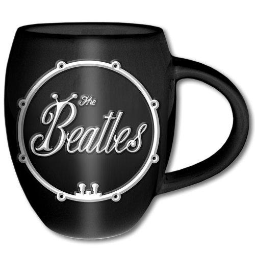 THE BEATLES - Oval Embossed Mug 450 ml - White Bug Logo