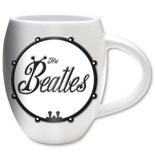 THE BEATLES - Oval Embossed Mug 450 ml - Black Bug Logo