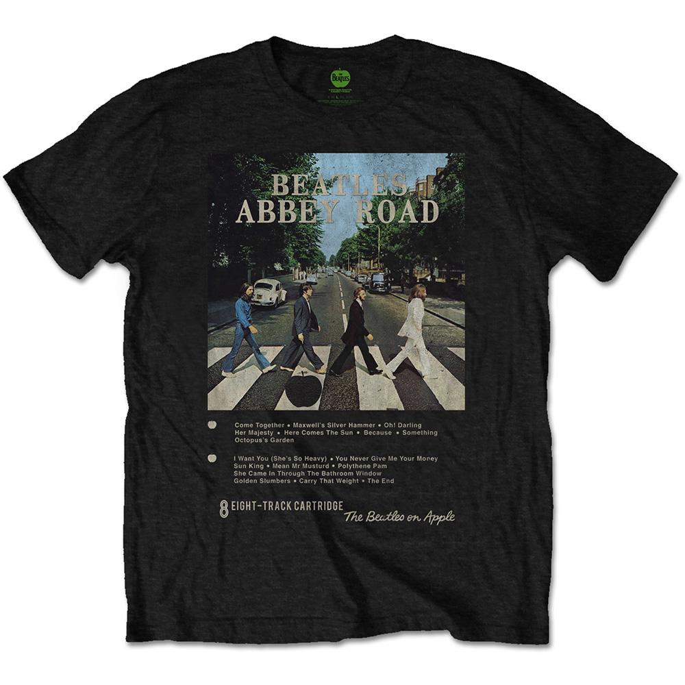 THE BEATLES - T-Shirt - Abbey Road 8 Track (L)