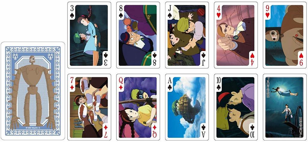 GHIBLI - Le château dans le ciel - Jeu de cartes à jouer (54 cartes)_3