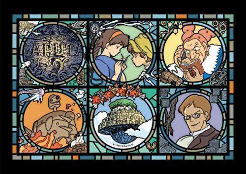 GHIBLI - Le château dans le ciel - Puzzle vitrail 18x25cm