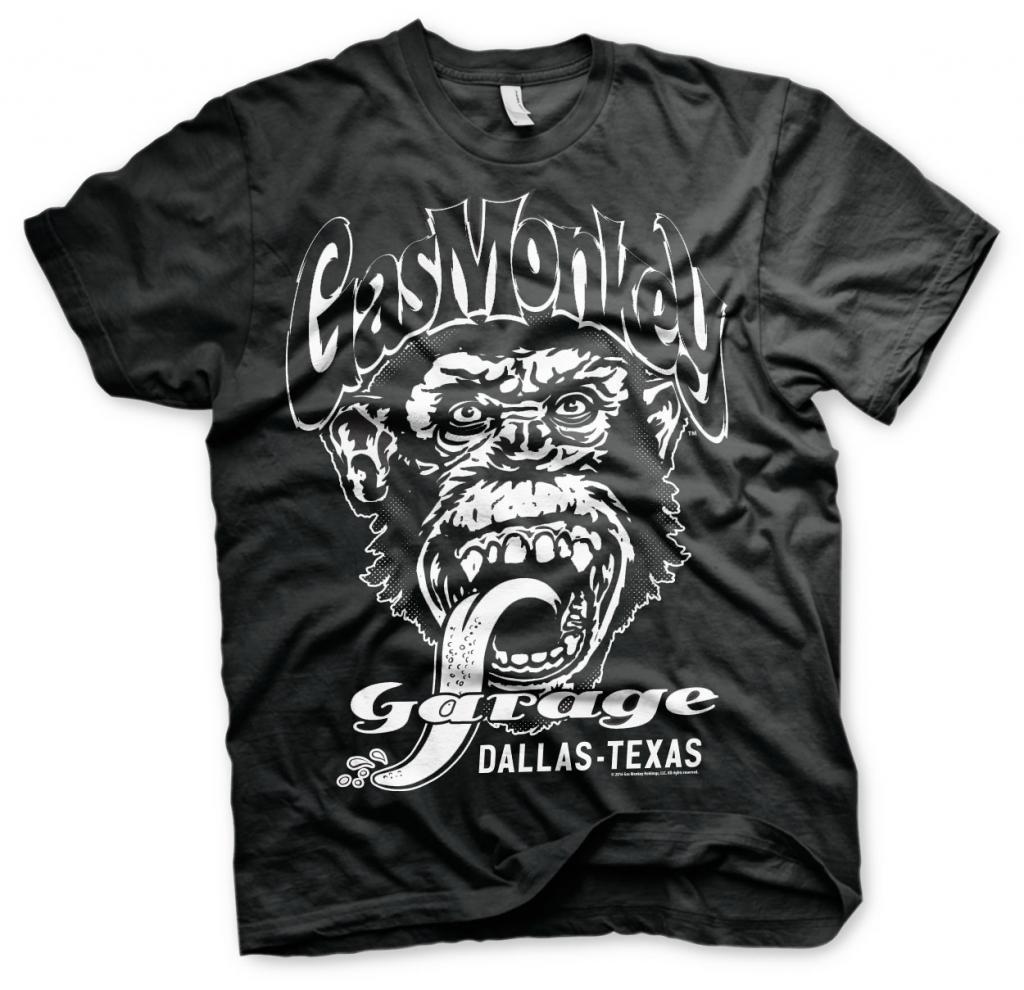 GAS MONKEY - T-Shirt Garage Dallas Texas - Black (L)