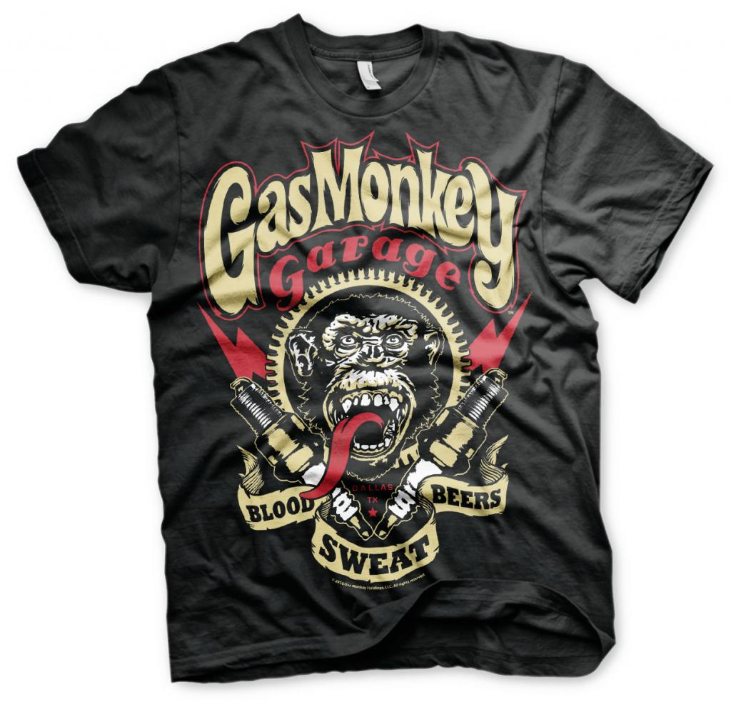 GAS MONKEY - T-Shirt Spark Plugs - Black (10 Ans)