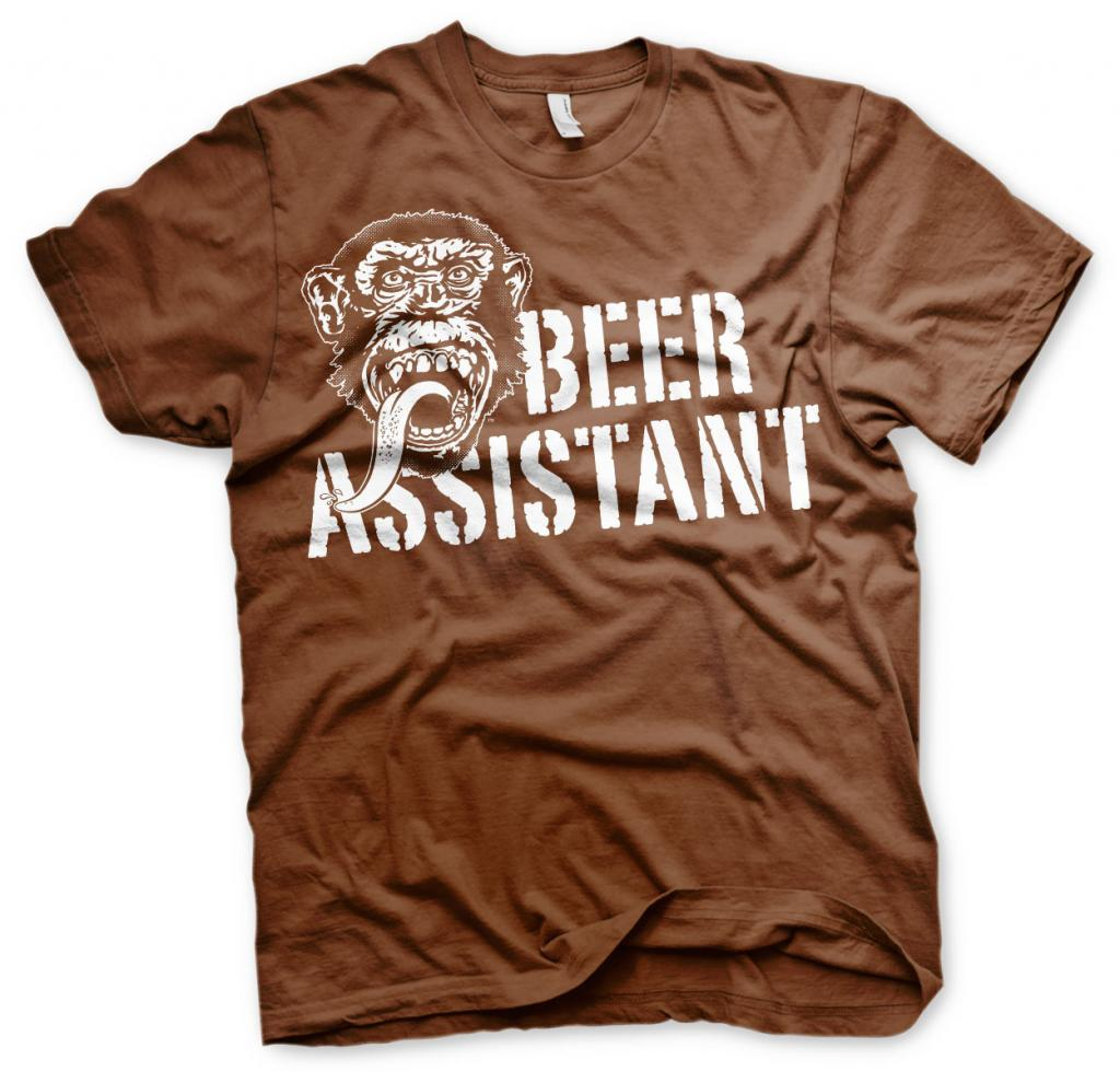 GAS MONKEY - T-Shirt Beer Assistant - Brown (10 Years)