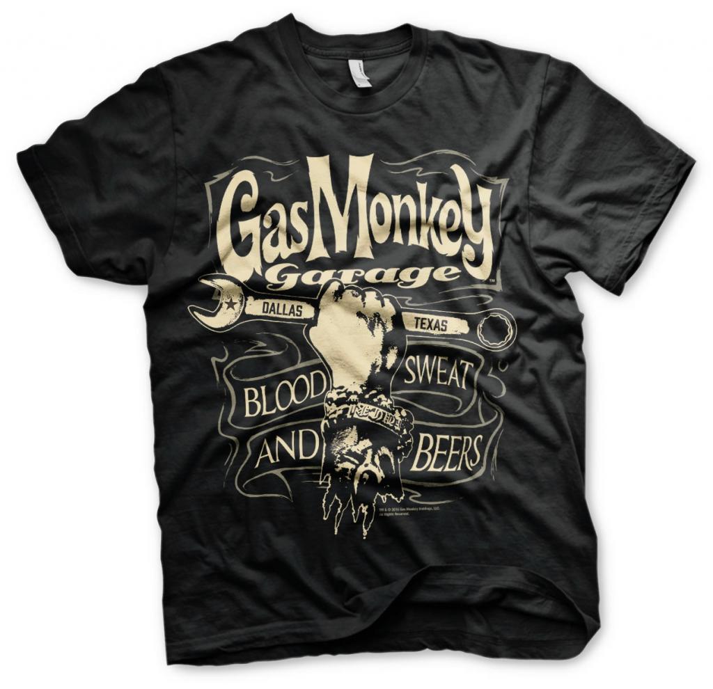 GAS MONKEY - T-Shirt Wrench Label (L)