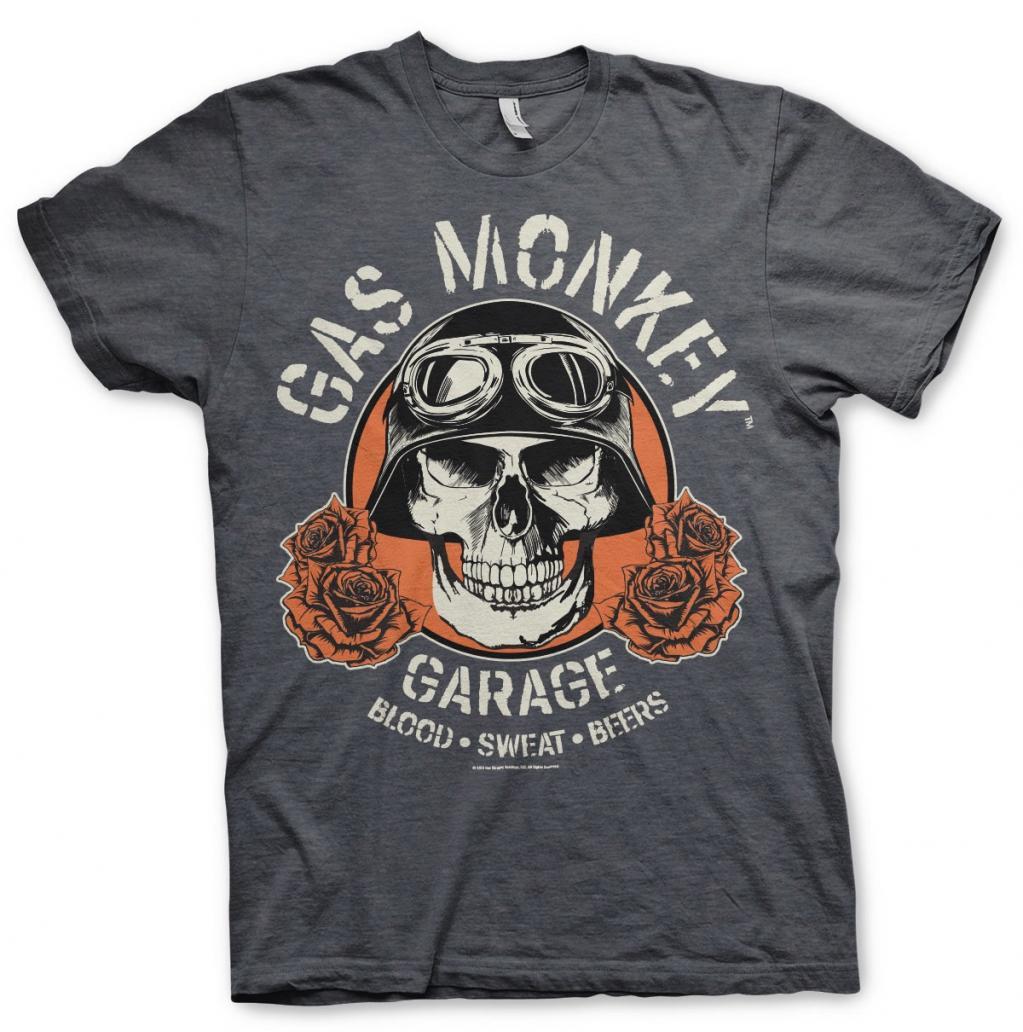 GAS MONKEY - T-Shirt Skull - Dark Grey (S)