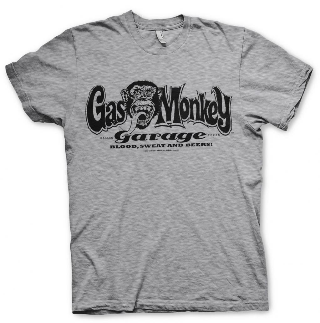 GAS MONKEY - T-Shirt Logo - Grey (S)