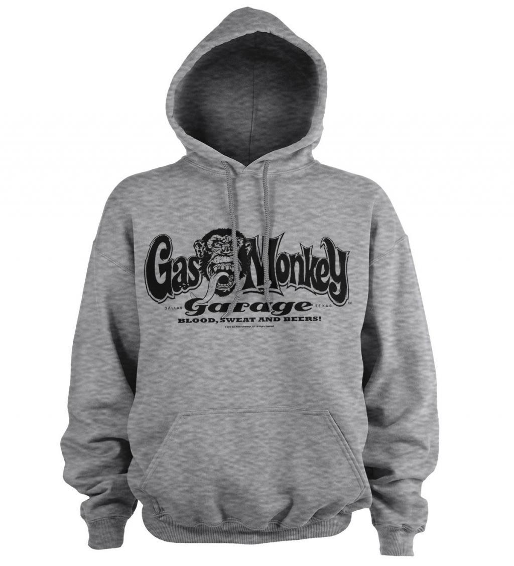GAS MONKEY - Sweat Hoodie - Logo - Grey (S)